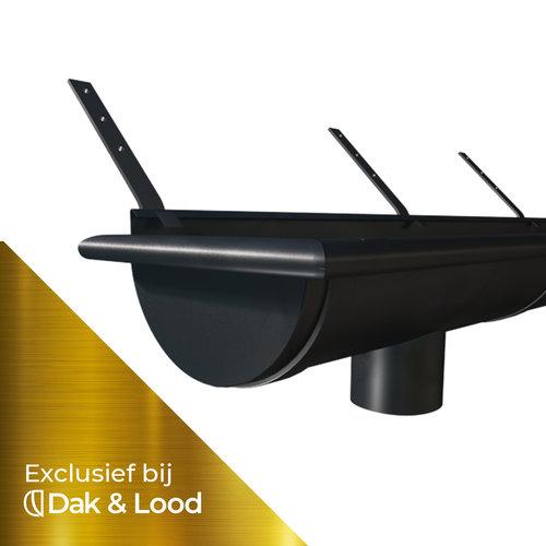 Zwart Zinken Mastgoot Pakket - M30 - 3 Meter - Graphite Serie