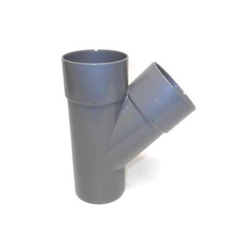 PVC T-stuk 45gr.  verjongd- dia. 80 mm