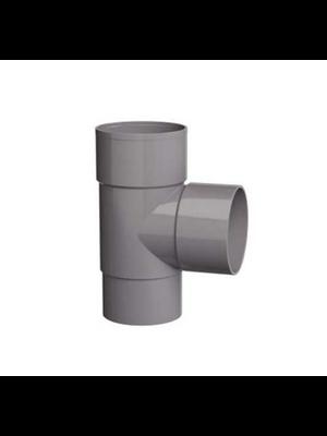 PVC T-stuk 90gr.  verjongd- dia. 80 mm