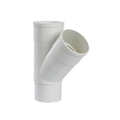 PVC T-stuk 45gr.  verjongd- dia. 80 mm - Wit