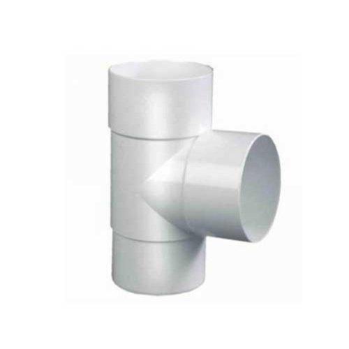 PVC T-stuk 90gr.  verjongd- dia. 80 mm - Wit