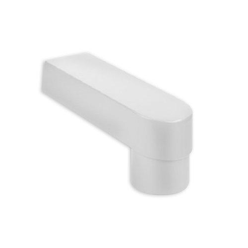 PVC Stadsuitloop Wit 60 x 100 mm -> Buis 70 / 80