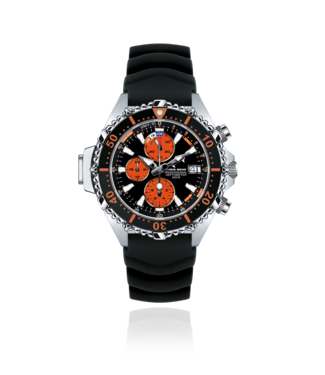 Chris Benz Watches Depthmeter Chronograph 200M - Coral Orange CB-C200-O-KBS
