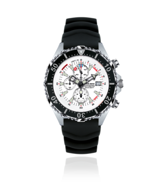 Chris Benz Watches Depthmeter Chronograph 300M - Arctic White CB-C300-W-KBS