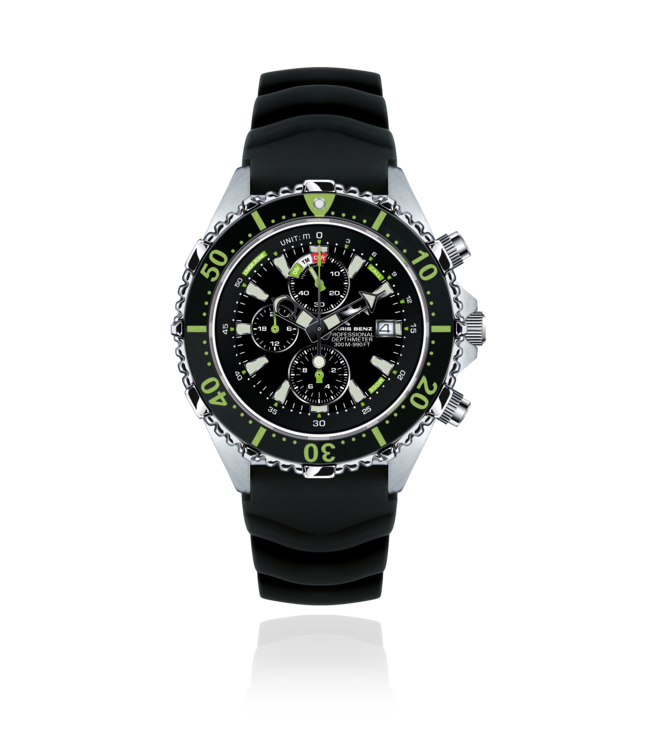 Chris Benz Watches Depthmeter Chronograph 300M - Caiman Green CB-C300-G-KBS