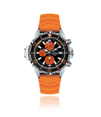 Chris Benz Watches Depthmeter Chronograph 200M - Coral Orange CB-C200-O-KBO