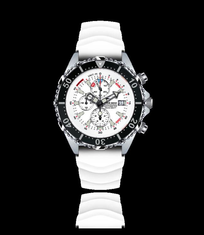 Chris Benz Watches Depthmeter Chronograph 300M - Arctic White CB-C300-W-KBW