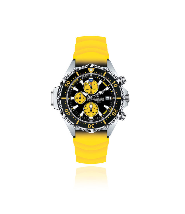 Chris Benz Watches Depthmeter Chronograph 200M - Snake Yellow
