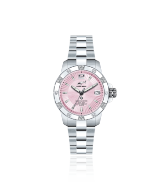 Chris Benz Watches Diamond Diver Pink Pearl Harbour - Oyster Strap