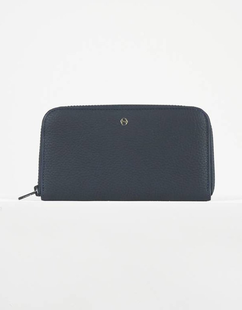 LARGE ZIPPED WALLET BLUE