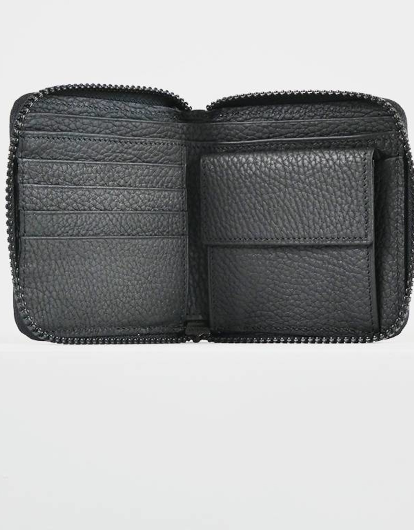 SMALL ZIPPED WALLET BLACK
