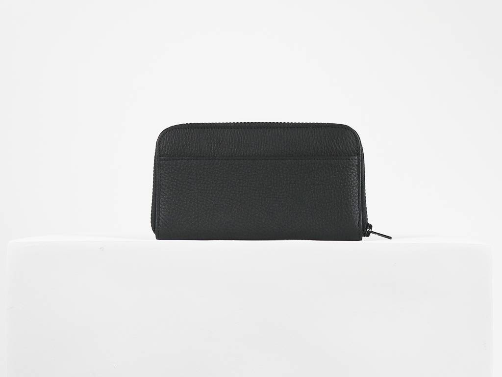 LARGE ZIPPED WALLET BLACK