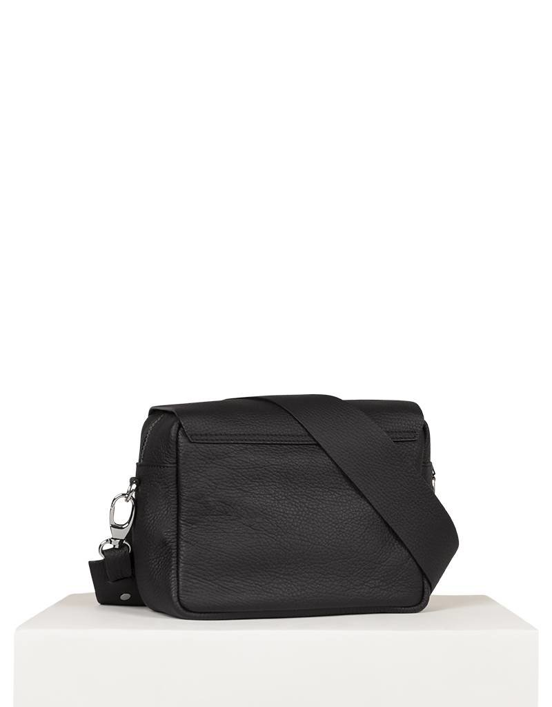 SMALL ZIPPED SHOULDERBAG BLACK