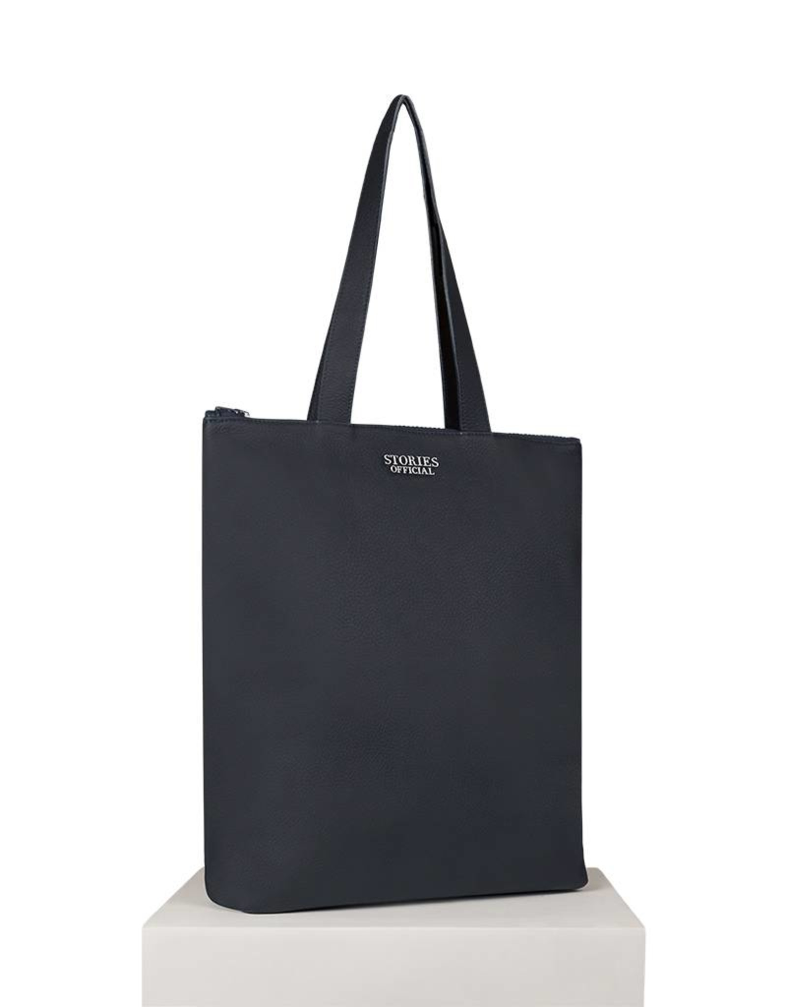 LEATHER ZIPPED SHOPPER BLUE
