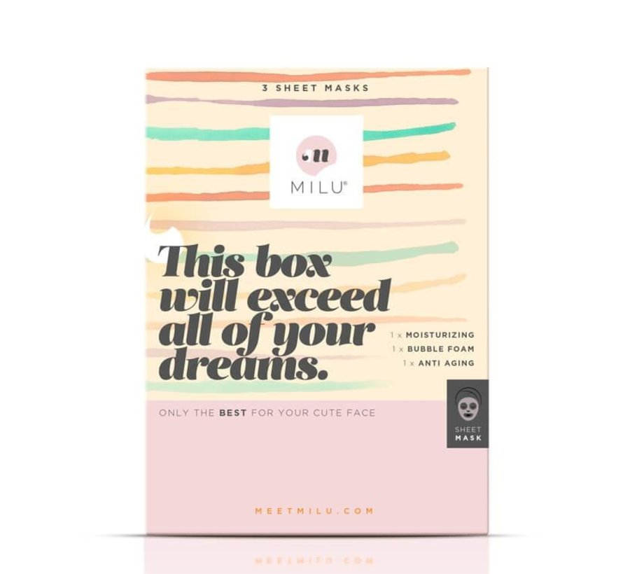 Milu - 3 Sheet Masks Gift Box