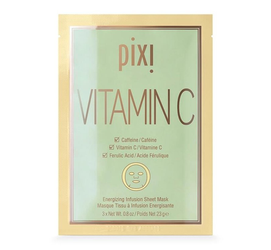 Pixi Vitamin-C Energizing Infusion Sheet Mask (3 x 23 gr)