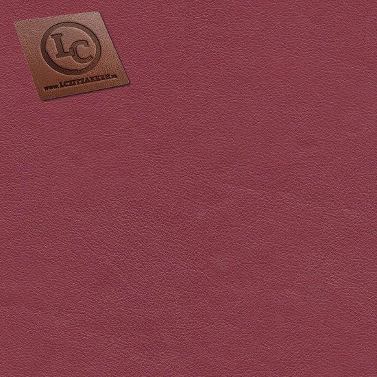 Barça peervorm-zitzak in karmijnrood kunstleer