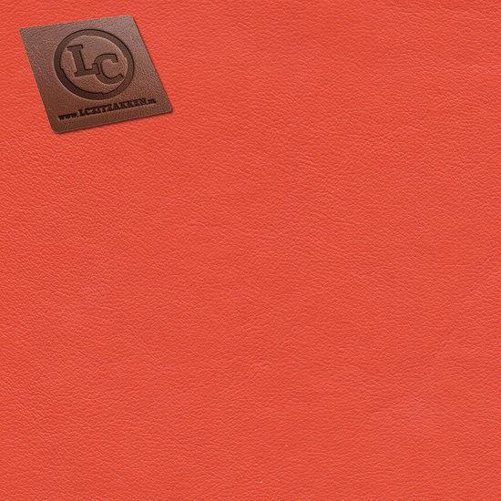 Barça peervorm-zitzak in oranje kunstleer