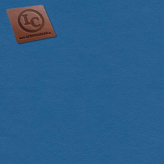 Barça peervorm-zitzak in kobaltblauw kunstleer