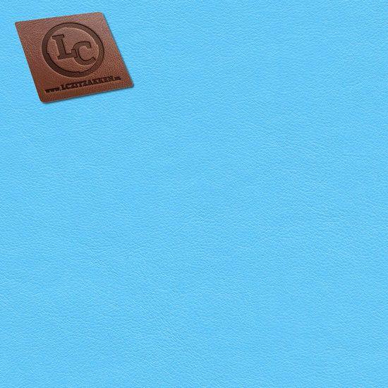 Barça peervorm-zitzak in licht blauw kunstleer