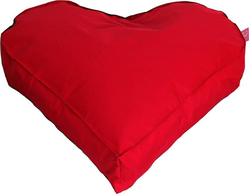 Paris Med ''outdoor''  rode hartvorm - zitzak