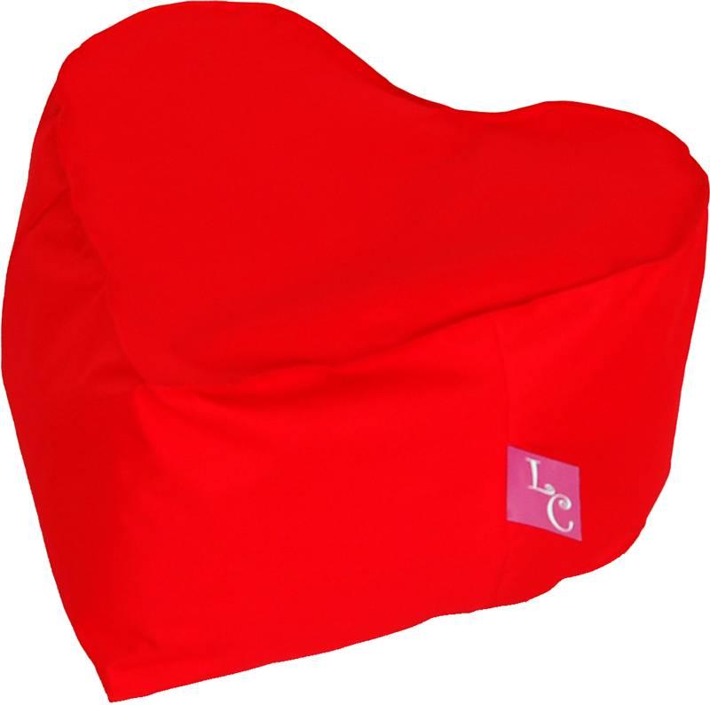 """LC LC Hartvorm Poef """"Paris"""" outdoor rood  - Wasbaar"""