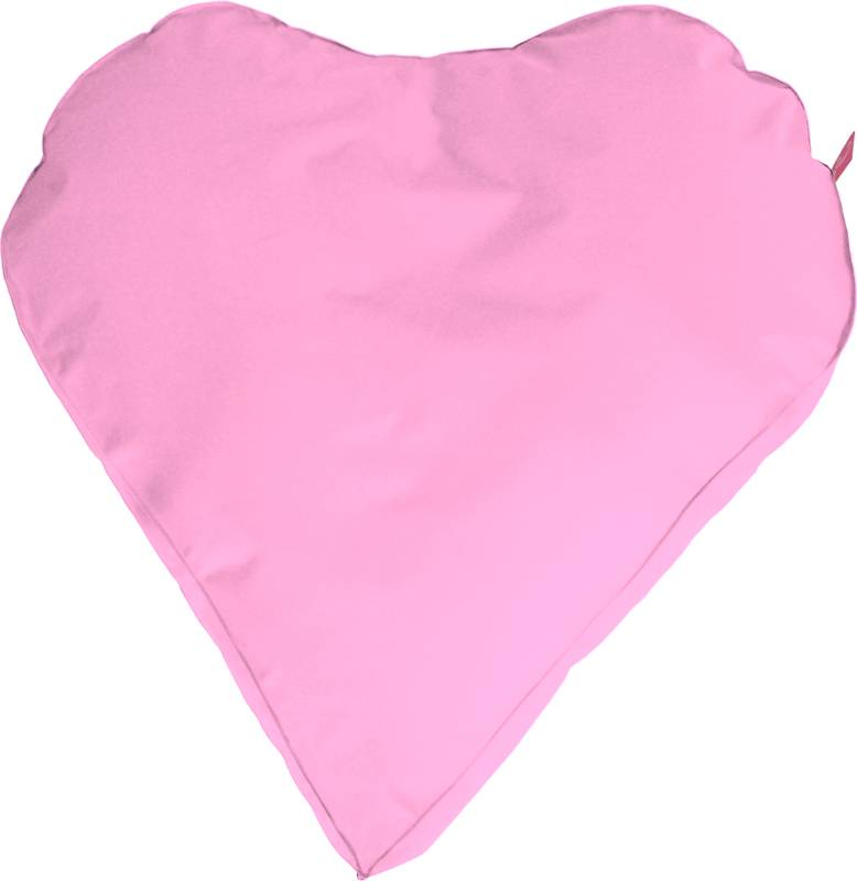 Paris Med ''outdoor''  licht roze hartvorm - zitzak