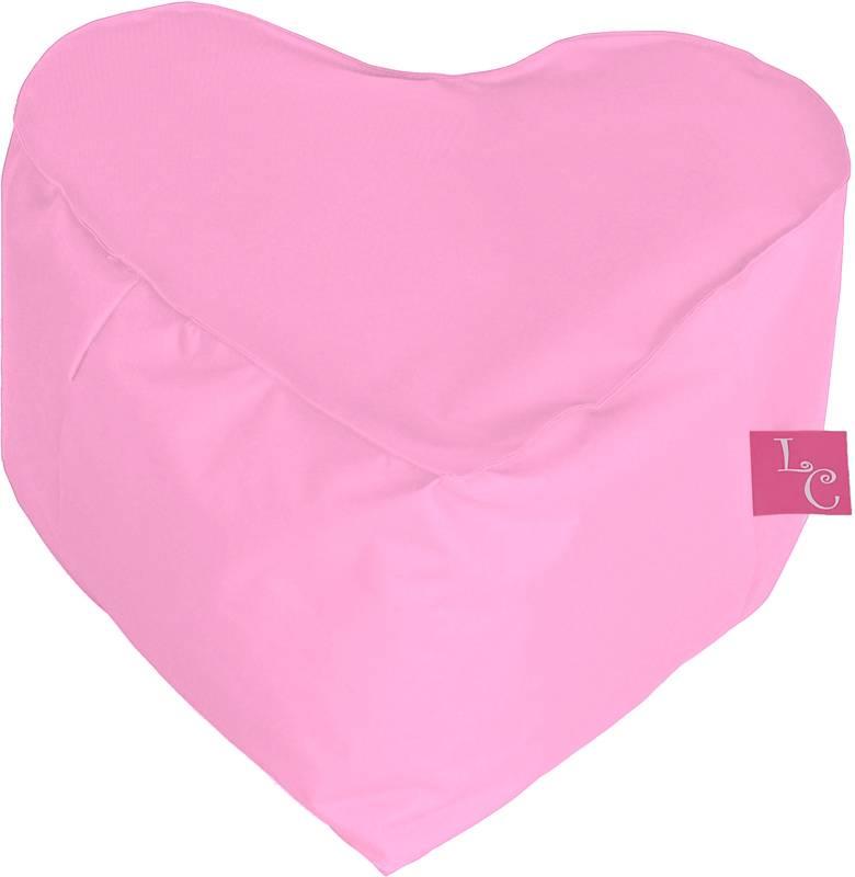 Paris Poef ''outdoor'' licht roze hartvorm-zitzak