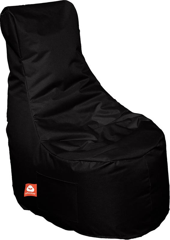 <h3>Comfortabele zwarte stoelvormige zitzak van Whoober-outdoor kwaliteit die in Nederland door Whoober wordt geproduceerd. Gratis verzending en binnen enkele werkdagen in huis!</h3><h3>Belangrijkste eigenschappen van&nbsp;de Nice</h3><ul><li>Ook voor de