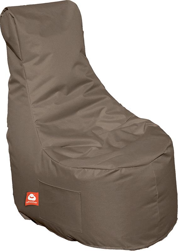 <h3>Comfortabele taupe stoelvormige zitzak van Whoober-outdoor kwaliteit die in Nederland door Whoober wordt geproduceerd. Gratis verzending en binnen enkele werkdagen in huis!</h3><h3>Belangrijkste eigenschappen van&nbsp;de Nice</h3><ul><li>Ook voor de z