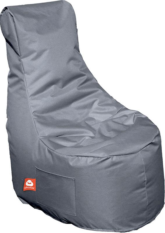 <h3>Comfortabele grijze stoelvormige zitzak van Whoober-outdoor kwaliteit die in Nederland door Whoober wordt geproduceerd. Gratis verzending en binnen enkele werkdagen in huis!</h3><h3>Belangrijkste eigenschappen van&nbsp;de Nice</h3><ul><li>Ook voor de