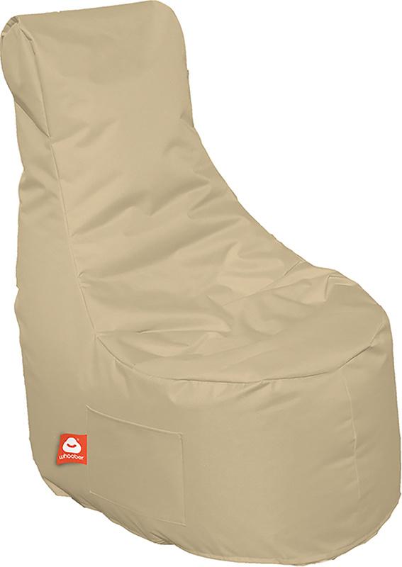 <h3>Comfortabele beige stoelvormige zitzak van Whoober-outdoor kwaliteit die in Nederland door Whoober wordt geproduceerd. Gratis verzending en binnen enkele werkdagen in huis!</h3><h3>Belangrijkste eigenschappen van&nbsp;de Nice</h3><ul><li>Ook voor de z