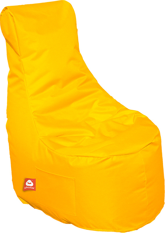 <h3>Comfortabele gele stoelvormige zitzak van Whoober-outdoor kwaliteit die in Nederland door Whoober wordt geproduceerd. Gratis verzending en binnen enkele werkdagen in huis!</h3><h3>Belangrijkste eigenschappen van&nbsp;de Nice</h3><ul><li>Ook voor de za