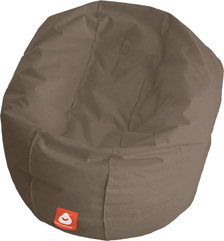 <h3>Comfortabele taupe ronde zitzak van Whoober-outdoor kwaliteit die in Nederland door Whoober wordt geproduceerd. Gratis verzending en binnen enkele werkdagen in huis!</h3><h2>Belangrijkste eigenschappen van&nbsp;de Ibiza Large</h2><ul><li>Ook voor de z