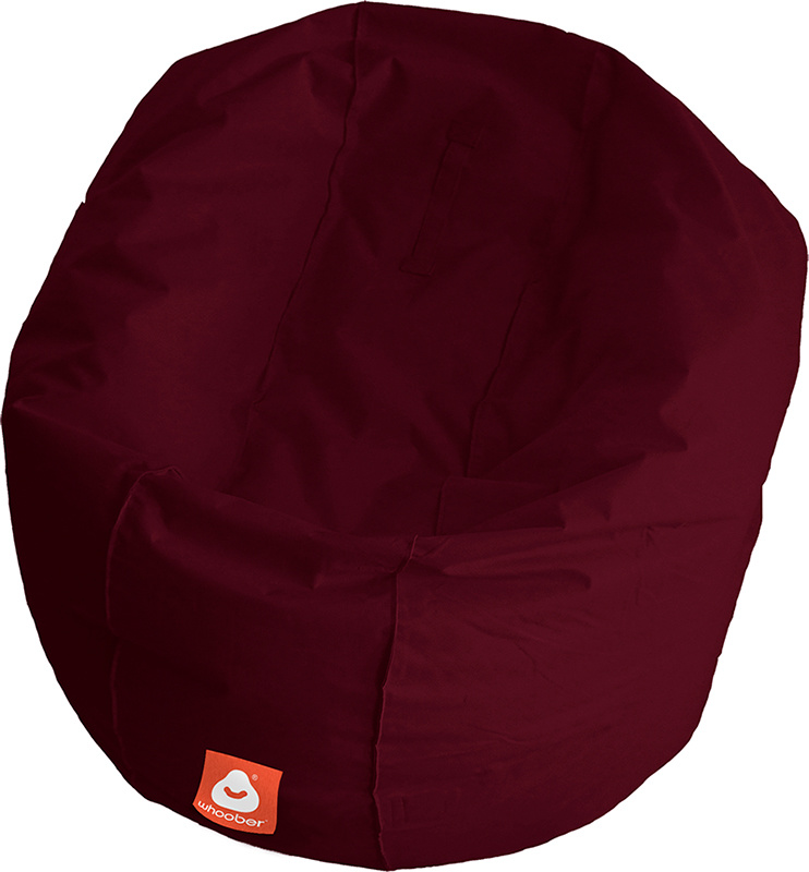 <h3>Comfortabele bordeaux rood ronde zitzak van Whoober-outdoor kwaliteit die in Nederland door Whoober wordt geproduceerd. Gratis verzending en binnen enkele werkdagen in huis!</h3><h2>Belangrijkste eigenschappen van&nbsp;de Ibiza Large</h2><ul><li>Ook v