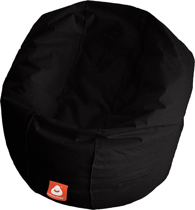 <h3>Comfortabele zwarte ronde zitzak van Whoober-outdoor kwaliteit die in Nederland door Whoober wordt geproduceerd. Gratis verzending en binnen enkele werkdagen in huis!</h3><h2>Belangrijkste eigenschappen van&nbsp;de Ibiza Large</h2><ul><li>Ook voor de