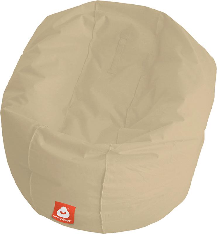 <h3>Comfortabele beige ronde zitzak van Whoober-outdoor kwaliteit die in Nederland door Whoober wordt geproduceerd. Gratis verzending en binnen enkele werkdagen in huis!</h3><h2>Belangrijkste eigenschappen van&nbsp;de Ibiza Large</h2><ul><li>Ook voor de z
