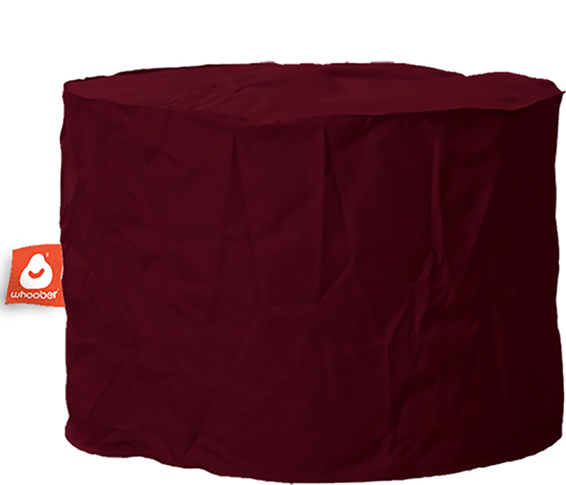<h3>Comfortabele &amp; multifunctionele bordeaux rood poef van Whoober-outdoor kwaliteit die in Nederland door Whoober wordt geproduceerd. Gratis verzending en binnen enkele werkdagen in huis!</h3><h2>Belangrijkste eigenschappen van&nbsp;de Rhodos</h2><ul