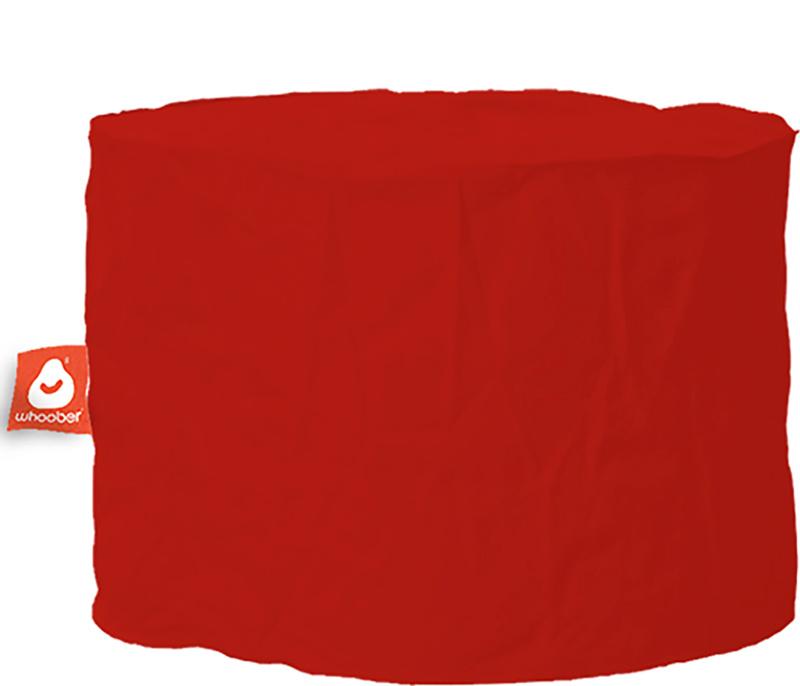 <h3>Comfortabele &amp; multifunctionele rode poef van Whoober-outdoor kwaliteit die in Nederland door Whoober wordt geproduceerd. Gratis verzending en binnen enkele werkdagen in huis!</h3><h2>Belangrijkste eigenschappen van&nbsp;de Rhodos</h2><ul><li>Ook