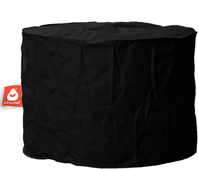 <h3>Comfortabele &amp; multifunctionele zwarte poef van Whoober-outdoor kwaliteit die in Nederland door Whoober wordt geproduceerd. Gratis verzending en binnen enkele werkdagen in huis!</h3><h2>Belangrijkste eigenschappen van&nbsp;de Rhodos</h2><ul><li>Oo