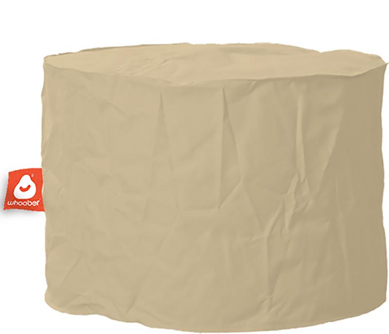 <h3>Comfortabele &amp; multifunctionele beige poef van Whoober-outdoor kwaliteit die in Nederland door Whoober wordt geproduceerd. Gratis verzending en binnen enkele werkdagen in huis!</h3><h2>Belangrijkste eigenschappen van&nbsp;de Rhodos</h2><ul><li>Ook
