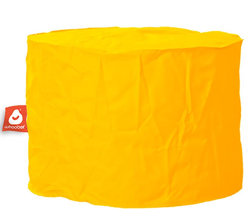 <h3>Comfortabele &amp; multifunctionele gele poef van Whoober-outdoor kwaliteit die in Nederland door Whoober wordt geproduceerd. Gratis verzending en binnen enkele werkdagen in huis!</h3><h2>Belangrijkste eigenschappen van&nbsp;de Rhodos</h2><ul><li>Ook