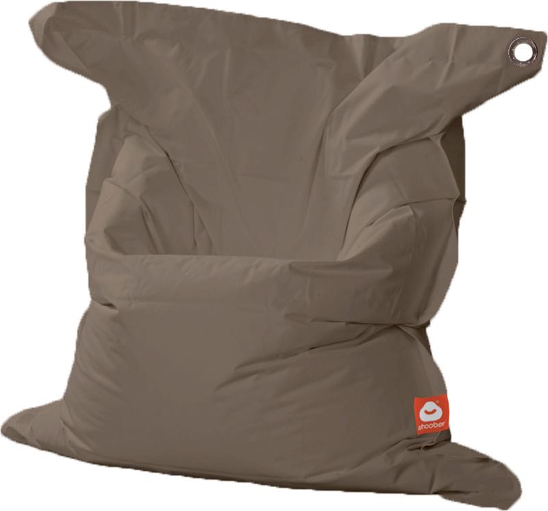 <h3>Comfortabele taupe rechthoekige XL-zitzak van Whoober-outdoor kwaliteit die in Nederland door Whoober wordt geproduceerd. Gratis verzending en binnen enkele werkdagen in huis!</h3><h2>Belangrijkste eigenschappen van&nbsp;de St. Tropez XL</h2><ul><li>O