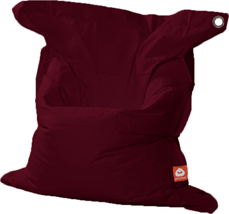 <h3>Comfortabele bordeaux rood rechthoekige XL-zitzak van Whoober-outdoor kwaliteit die in Nederland door Whoober wordt geproduceerd. Gratis verzending en binnen enkele werkdagen in huis!</h3><h2>Belangrijkste eigenschappen van&nbsp;de St. Tropez XL</h2><