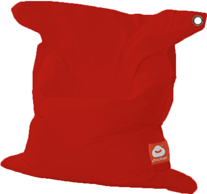 <h3>Comfortabele rode rechthoekige Medium zitzak van Whoober-outdoor kwaliteit die in Nederland door Whoober wordt geproduceerd. Gratis verzending en binnen enkele werkdagen in huis!</h3><h2>Belangrijkste eigenschappen van&nbsp;de St. Tropez Medium</h2><u