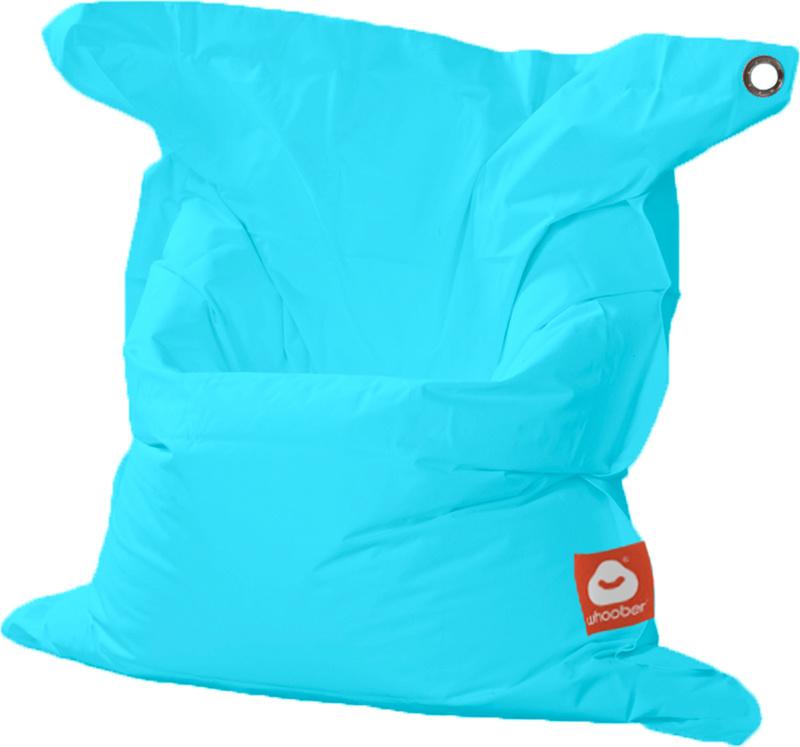<h3>Comfortabele aqua blauwe rechthoekige Medium zitzak van Whoober-outdoor kwaliteit die in Nederland door Whoober wordt geproduceerd. Gratis verzending en binnen enkele werkdagen in huis!</h3><h2>Belangrijkste eigenschappen van&nbsp;de St. Tropez Medium