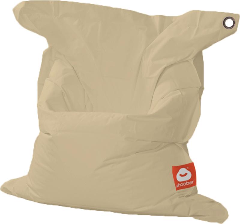 <h3>Comfortabele beige rechthoekige Medium zitzak van Whoober-outdoor kwaliteit die in Nederland door Whoober wordt geproduceerd. Gratis verzending en binnen enkele werkdagen in huis!</h3><h2>Belangrijkste eigenschappen van&nbsp;de St. Tropez Medium</h2><