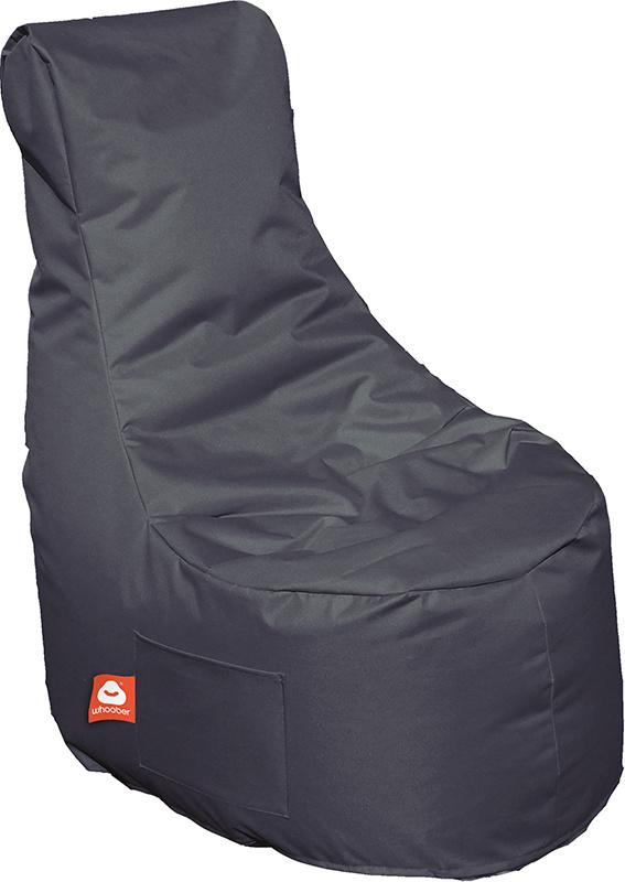 <h3>Comfortabele antraciet stoelvormige zitzak van Whoober-outdoor kwaliteit die in Nederland door Whoober wordt geproduceerd. Gratis verzending en binnen enkele werkdagen in huis!</h3><h3>Belangrijkste eigenschappen van&nbsp;de Nice</h3><ul><li>Ook voor