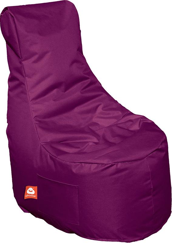 <h3>Comfortabele paarse stoelvormige zitzak van Whoober-outdoor kwaliteit die in Nederland door Whoober wordt geproduceerd. Gratis verzending en binnen enkele werkdagen in huis!</h3><h3>Belangrijkste eigenschappen van&nbsp;de Nice</h3><ul><li>Ook voor de