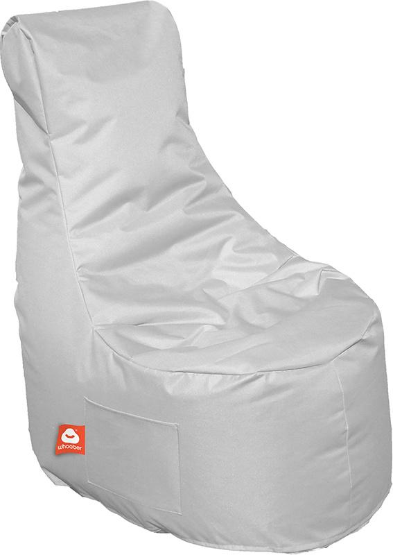 <h3>Comfortabele licht grijze stoelvormige zitzak van Whoober-outdoor kwaliteit die in Nederland door Whoober wordt geproduceerd. Gratis verzending en binnen enkele werkdagen in huis!</h3><h3>Belangrijkste eigenschappen van&nbsp;de Nice</h3><ul><li>Ook vo